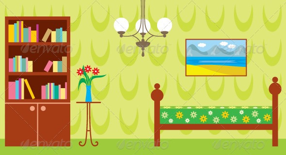Living room - Objects Vectors