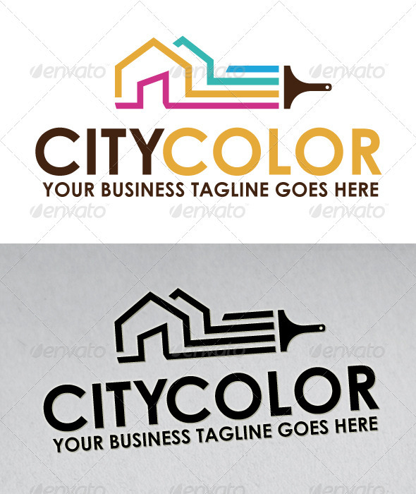 City Color Logo - Buildings Logo Templates