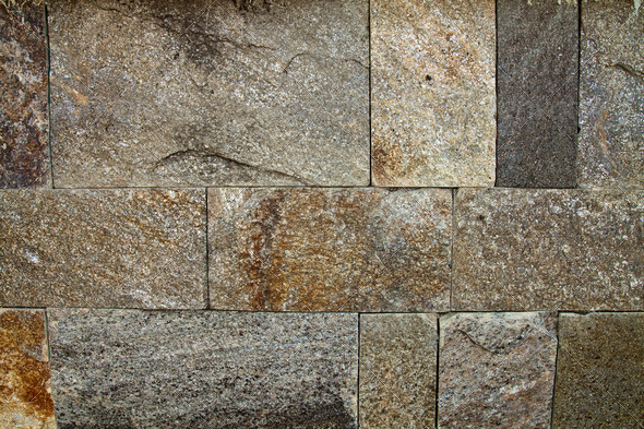 Stone wall cladding - Stock Photo - Images