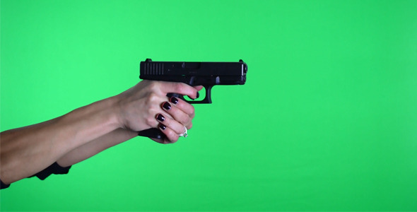 VideoHive Female Shooting Pistol Handgun 9mm Glock 19 2-Pack 2572953