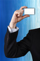 Business man handing a blank business card - PhotoDune Item for Sale