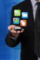 businessman holding mobile phone - PhotoDune Item for Sale