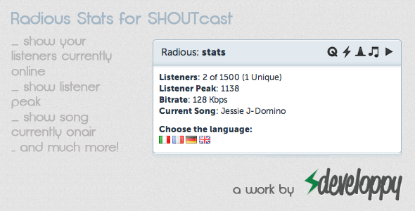CodeCanyon Radious Stats for SHOUTcast 2585747