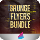Grunge Flyers Bundle-Graphicriver中文最全的素材分享平台