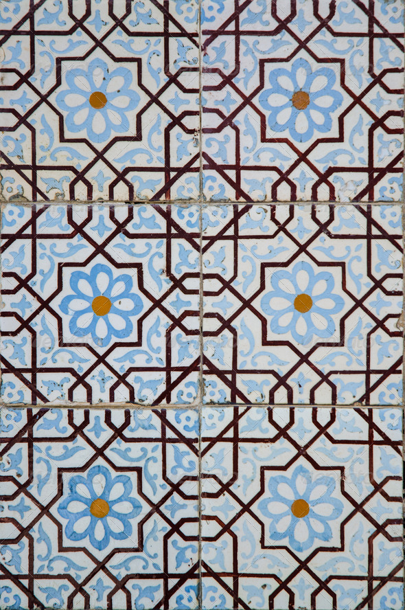 Traditional colored decorative tiles - Stock Photo - Images