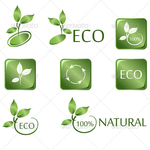 Green ECO icons - Health/Medicine Conceptual