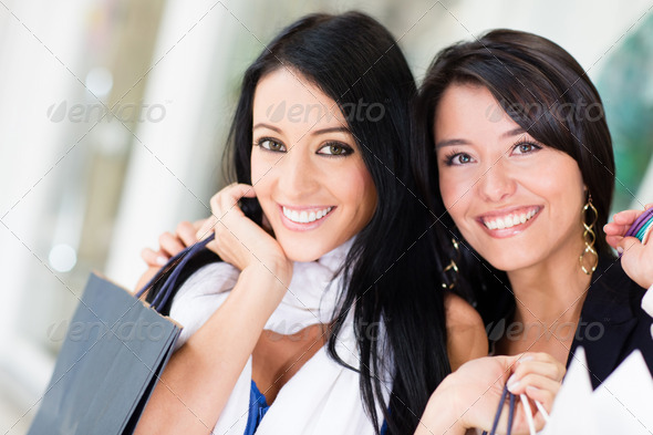 Beautiful women shopping - Stock Photo - Images