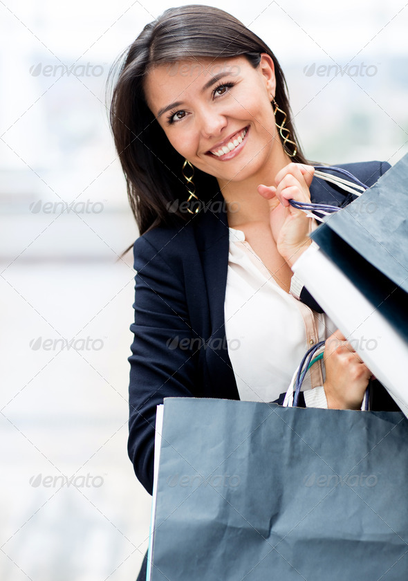 Latin woman shopping - Stock Photo - Images