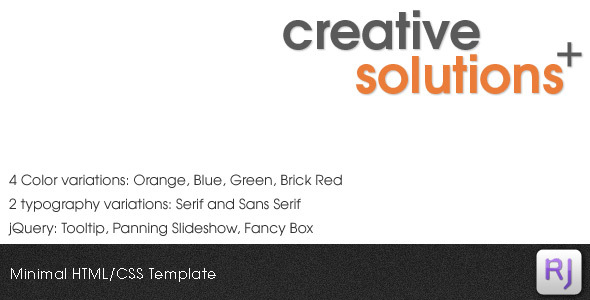 Creative Solutions HTML/CSS Template - Corporate Site Templates