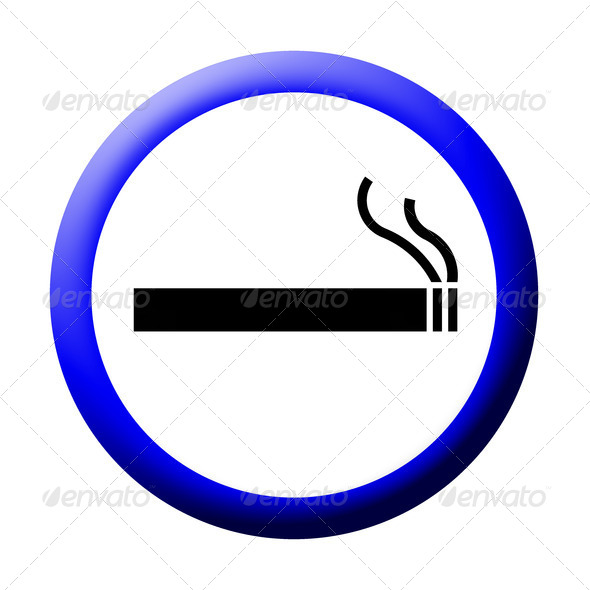 3d smoking area sign on white - Stock Photo - Images