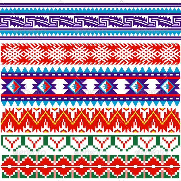 Ancient American pattern - Borders Decorative