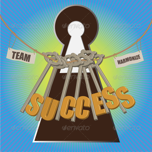 Team with multiple key to success - Stock Photo - Images