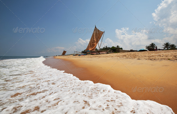 Boat on Sri Lanka - Stock Photo - Images
