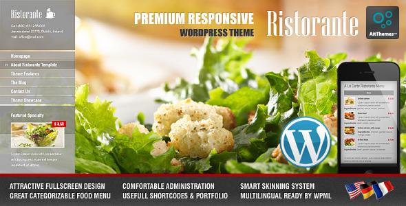Ristorante - Theme para WordPress Responsivo para Restaurantes