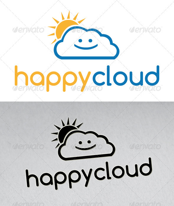 Happy Cloud Logo - Nature Logo Templates