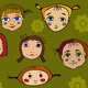 Girl Face Set - GraphicRiver Item for Sale