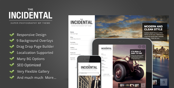 Incidental - High Class Photography WP Theme - ThemeForest Item for Sale