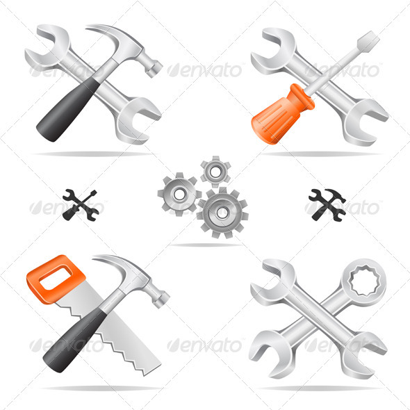 GraphicRiver Tools icon set 2590300