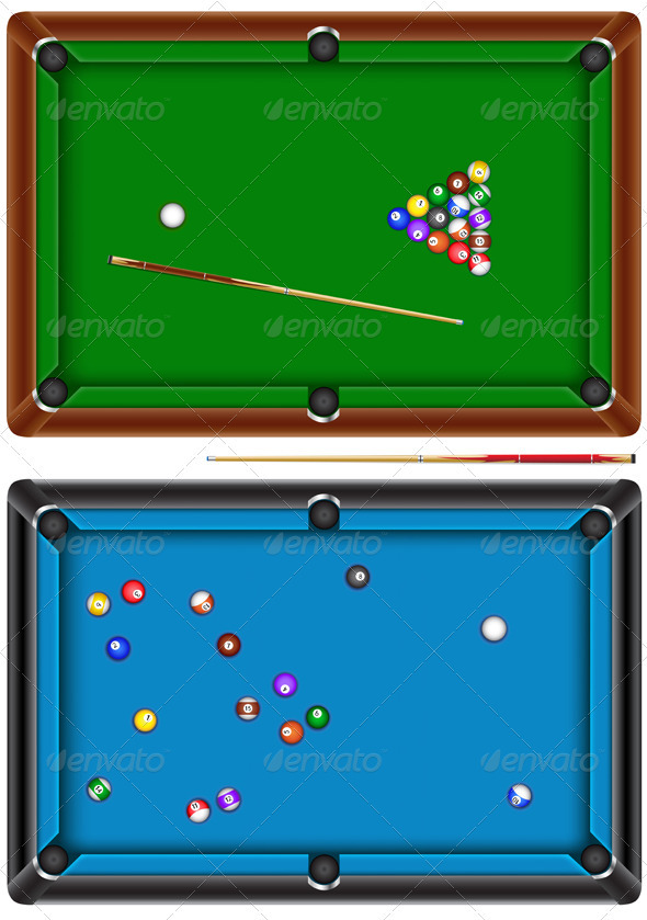 Pool table sports activity conceptual