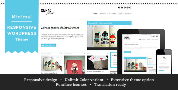 ThemeForest Sneakpeek Creative Portfolio WordPress Theme 2590816