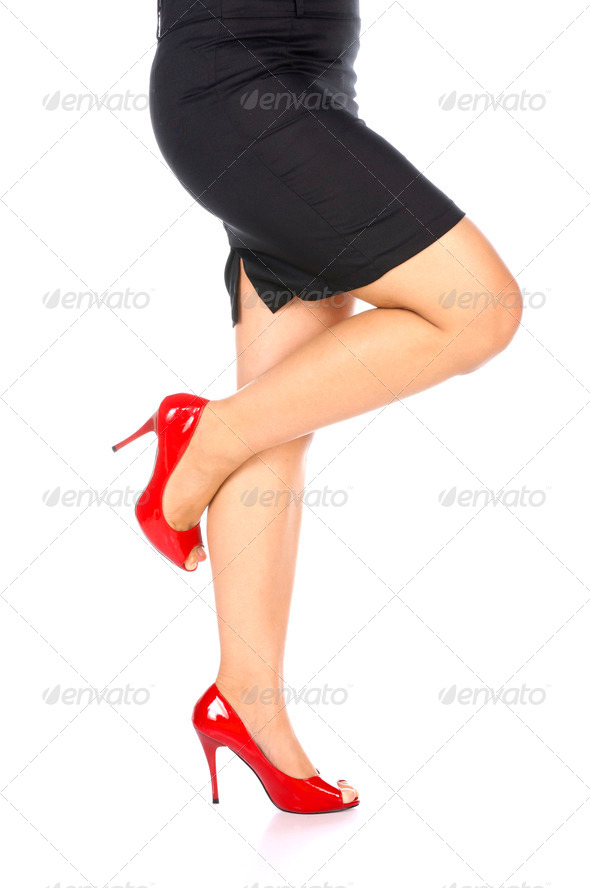 Wearing Red Shoes - Stock Photo - Images