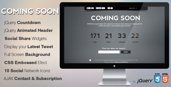 MinimalistPro Coming Soon Page with Countdown