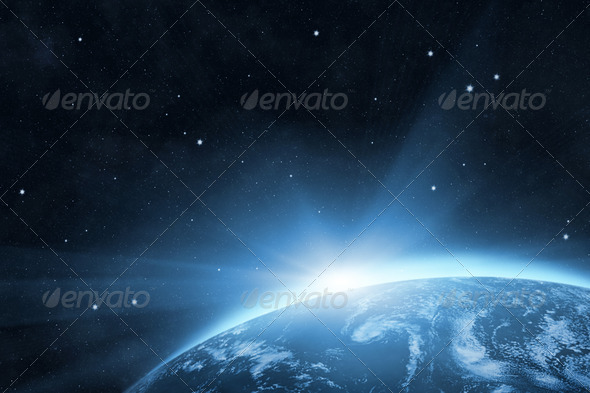 Blue planet Earth - Stock Photo - Images