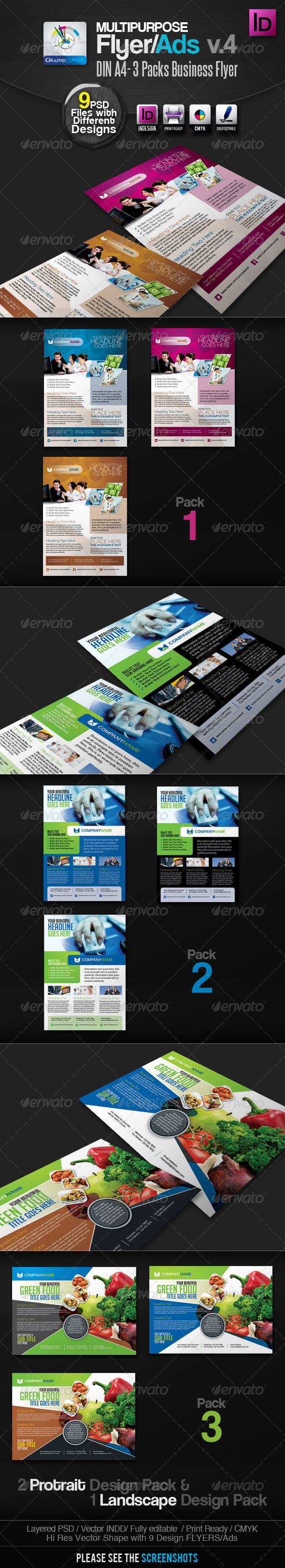 Multipurpose InDesign Flyers/Ads Pack v.4 - Corporate Flyers