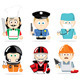 Famous professions - GraphicRiver Item for Sale