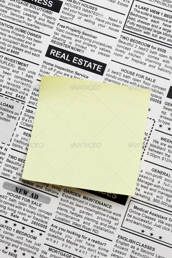Real Estate ad - Stock Photo - Images