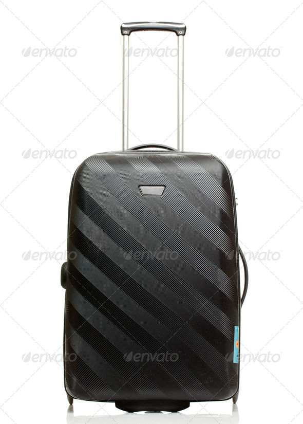 Suitcase isolated on a white background. - Stock Photo - Images