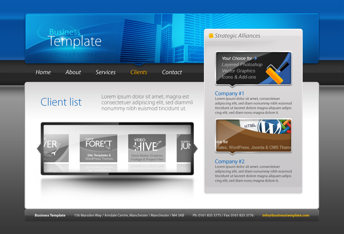 Business Template #01 HTML+CSS+PSD