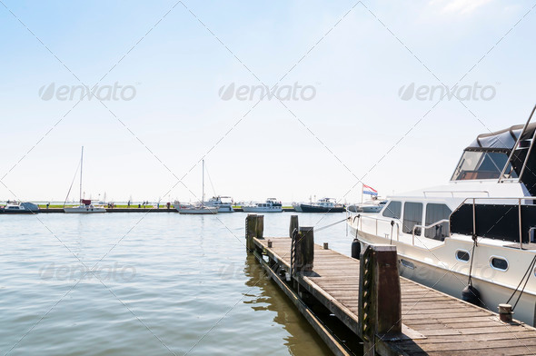Yacht in Volendam - Stock Photo - Images