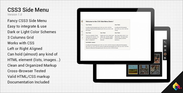 CSS3 Side Menu - CodeCanyon Item for Sale