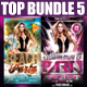 Top Party Flyer Bundle Vol5 - GraphicRiver Item for Sale