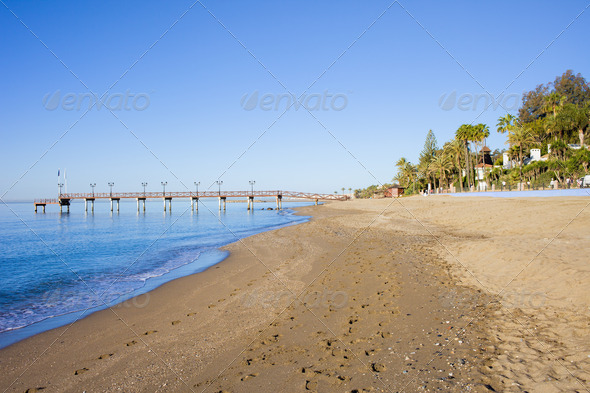 Beach in Marbella - Stock Photo - Images