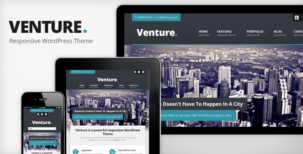 Venture - Responsive WordPress Theme