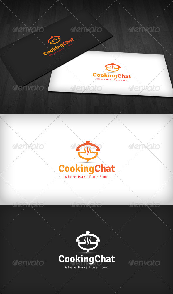 Cooking Chat Logo - Food Logo Templates