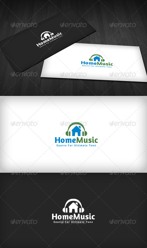 Home Music Logo - Buildings Logo Templates