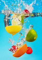 fruits fall deeply under water - PhotoDune Item for Sale