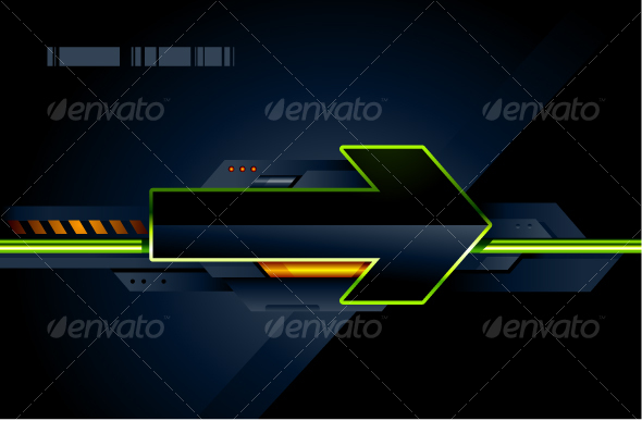 High tech arrow - Abstract Conceptual