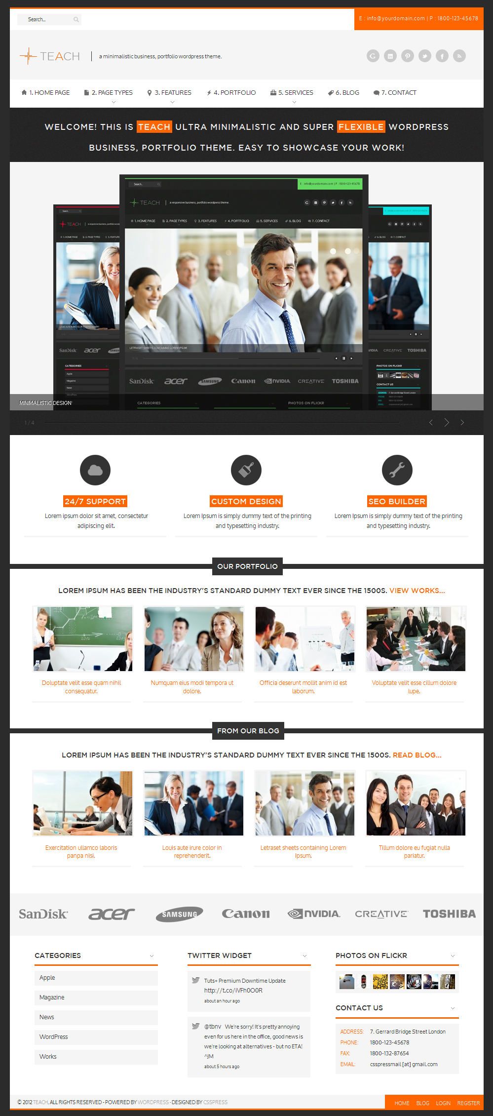 Teach - Flexible Business Portfolio WP Theme