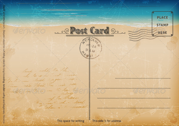 GraphicRiver Vintage Summer Postcard 2541544