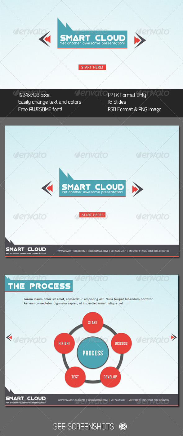 GraphicRiver Smart Cloud PowerPoint Presentation 290762