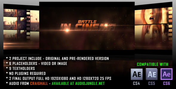 After Effects Project - VideoHive Battle In Cinema 2598170