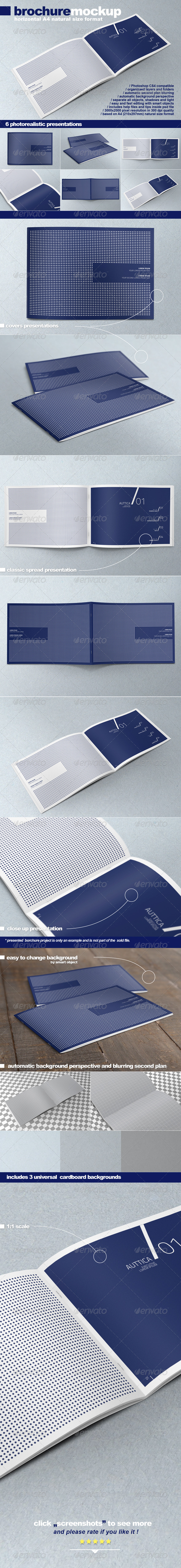 GraphicRiver Horizontal A4 Brochure Mock-up 2598552