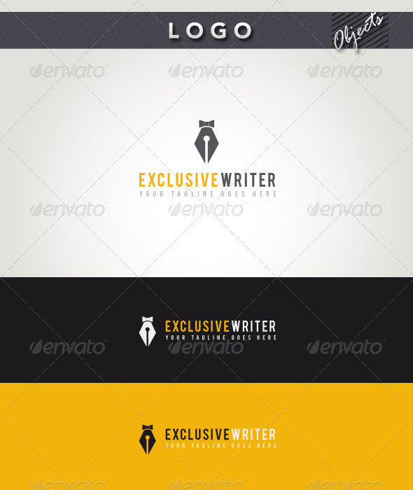Exclusive Writer Logo - Objects Logo Templates