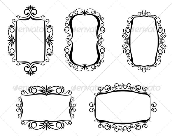 GraphicRiver Vintage frames 94378