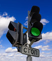 Green color on the traffic light - PhotoDune Item for Sale
