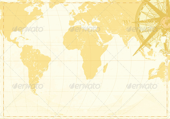 Vintage World Map - Travel Conceptual